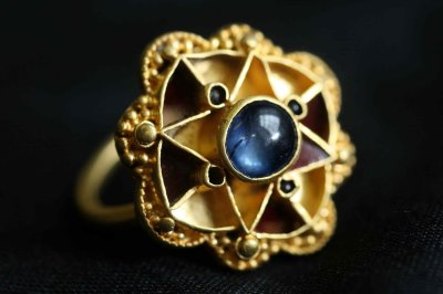 Enigmatic sapphire ring found by a metal detectorist in York
