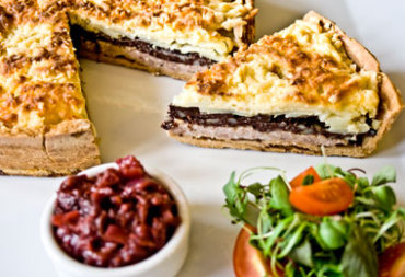 Lancashire Cheese, Pork and Black Pudding Tart