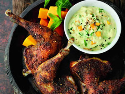 Northern Living - Grilled Spiced Pheasant with Mango and Mint Dressing