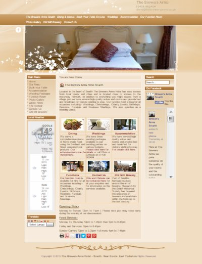 Specialist Hospitality Web Design