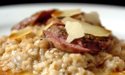 Northern Living - Duck Breasts with a Barley Risotto.