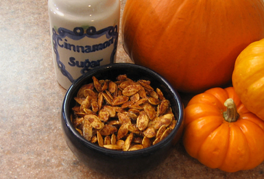 Sugar Spiced Roasted Pumpkin Seeds